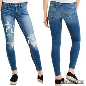 American eagle | distressed jegging skinny jeans